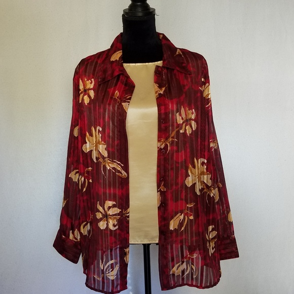 Club Z Collection Tops - Beautiful gold & burgundy 2 pc